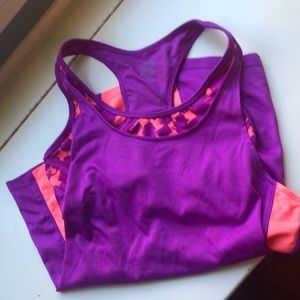 Workout tank with built in sports bra